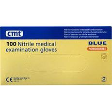 Image of Cmt Nitrile Handschoenen Latex Blauw Maat M 100st