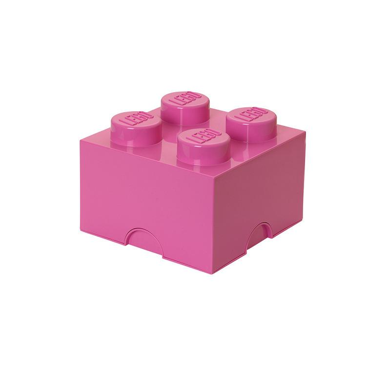 Lego Opbergbox - Brick 4 - 25 x 25 x 18 cm - 6 l - Fuchsia