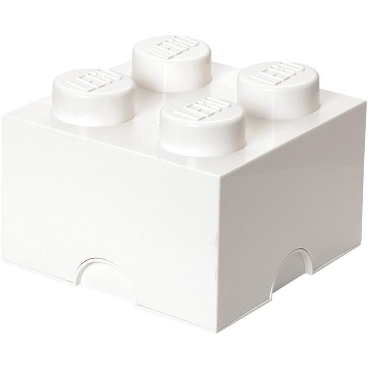 Lego Opbergbox - Brick 4 - 25 x 25 x 18 cm - 6 l - Wit