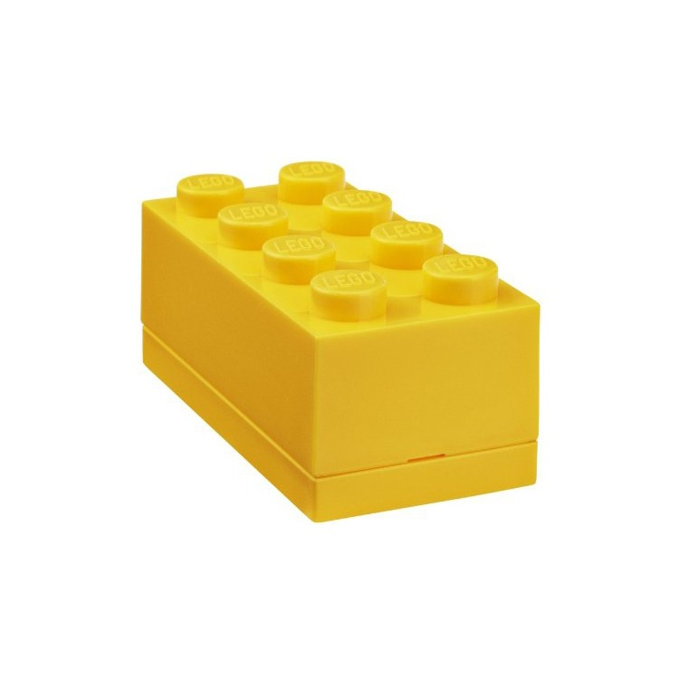 Lego Classic Lunchbox - Mini 8 - 4,6 x 9,2 x 4,3 cm - Geel