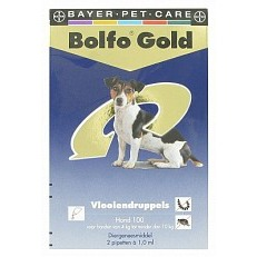 Bolfo 100 2 pipet gold hond vlooiendruppels
