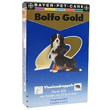 Bolfo 400 2 pipet gold hond vlooiendruppels