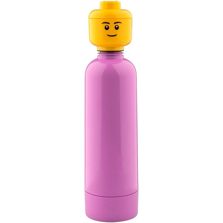 Lego Classic Drinkfles - ø 6,4 x 24,6 cm - Fuchsia