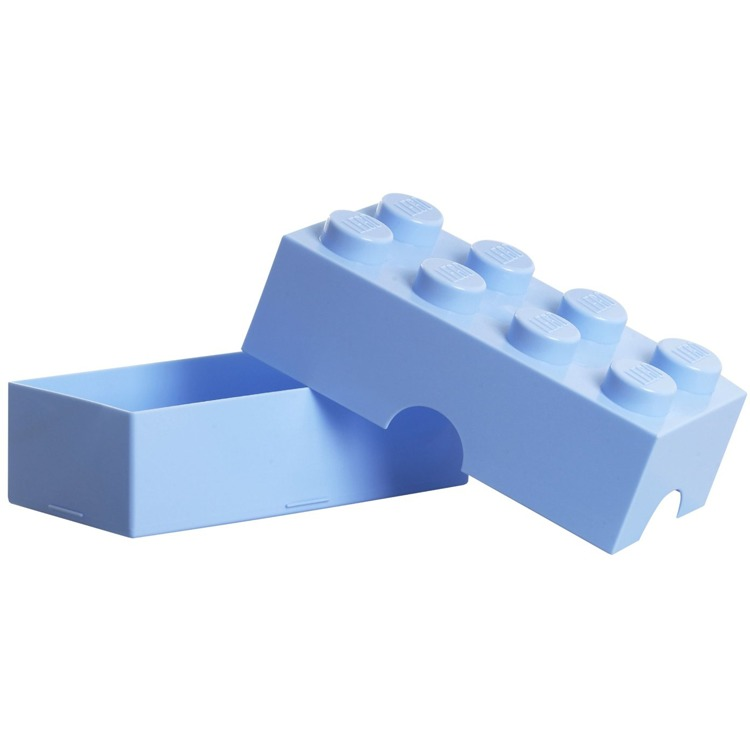 Lego Classic Lunchbox - Mini 8 - 10 x 20 x 7,5 cm - Lichtblauw