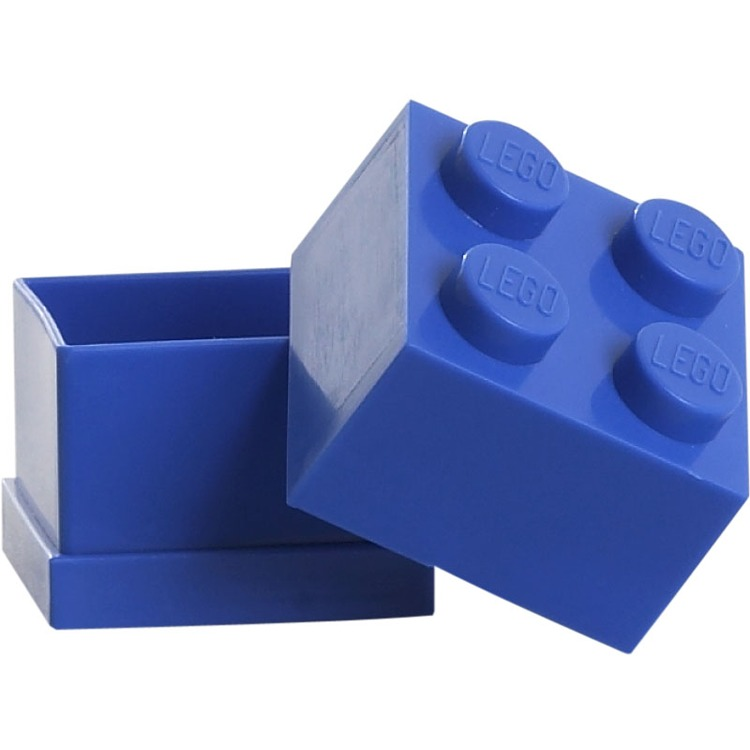 Lego Classic Lunchbox - Mini 4 - 4,6 x 4,6 x 4,3 cm - Blauw