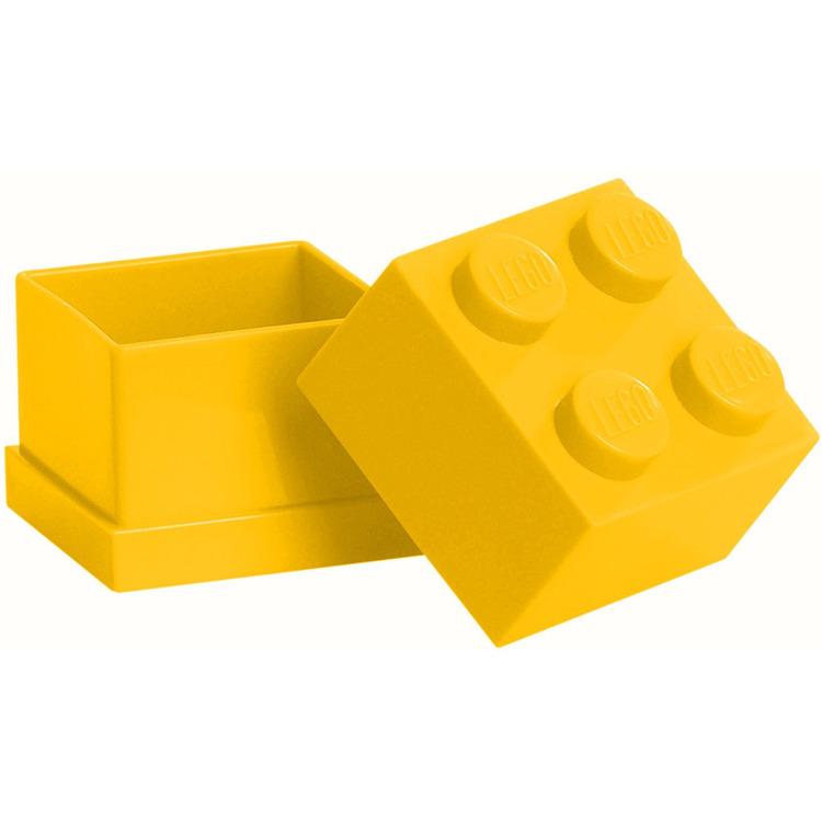 Lego Classic Lunchbox - Mini 4 - 4,6 x 4,6 x 4,3 cm - Geel
