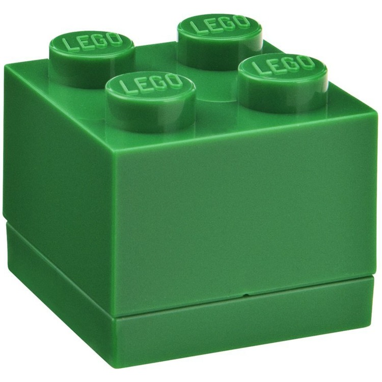 Lego Classic Lunchbox - Mini 4 - 4,6 x 4,6 x 4,3 cm - Donkergroen