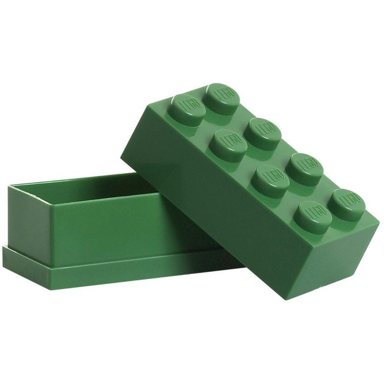 Lego Classic Lunchbox - Mini 8 - 4,6 x 9,2 x 4,3 cm - Donkergroen