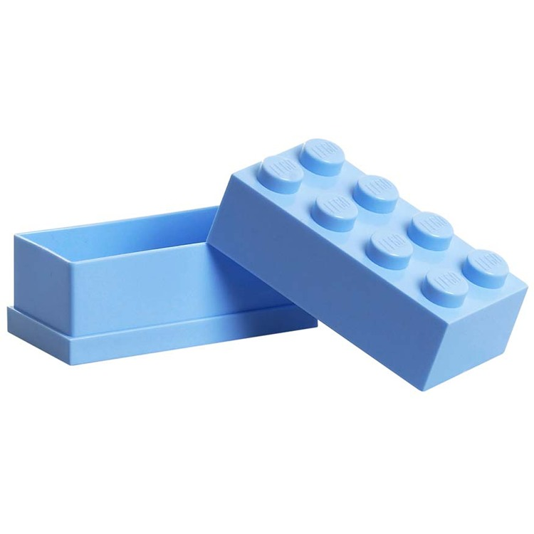 Lego Classic Lunchbox - Mini 8 - 4,6 x 9,2 x 4,3 cm - Lichtblauw