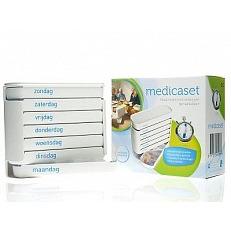 Image of Medicaset Medicijnbox Wit 5v Braill