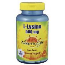 Natures Life Voedingssupplementen L-Lysine 500mg