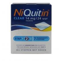 Niquitin Clear 14mg Stap 2 7stuks