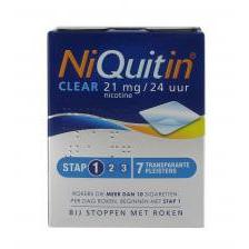 Niquitin Clear 21mg Stap 1 7stuks