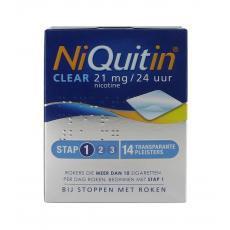 Niquitin Clear 21mg Stap 1 14stuks