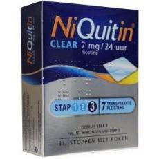 Niquitin Clear 7mg Stap 3 7stuks