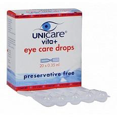 Image of Unicare Eye Care Drops Vita+ 20 St