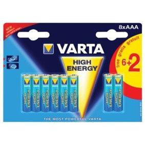 Varta 4903 so Batterij Alkaline Aaa-lr03 1.5 V High Energy 6+2-blister