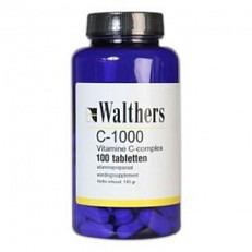 Walthers Vitamine C - Bioflavonoïden / Rozebottel - 1000 mg - 100 Tabletten