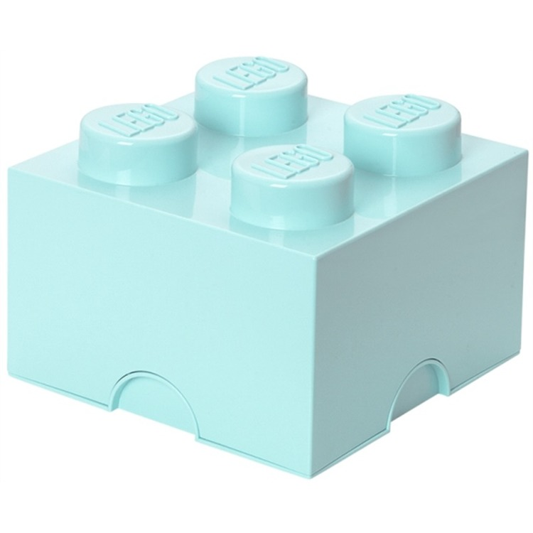 Lego Design Collection Opbergbox - Brick 4 - Lichtblauw