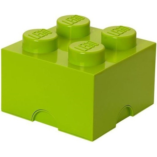 Lego Friends Opbergbox - Brick 4 - 25 x 25 x 18 cm - 6 l - Lime groen