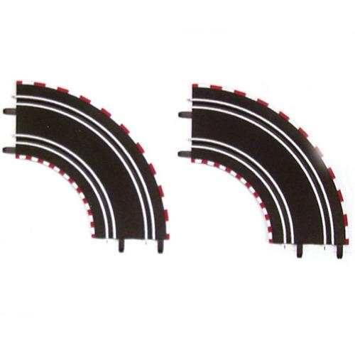 Carrera GO Bochten 1/90 Degrees - 2 Stuks