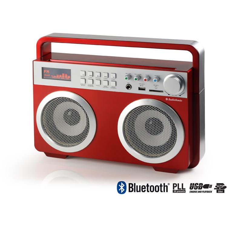 AudioSonic RD-1558 - Draagbare radio - Rood
