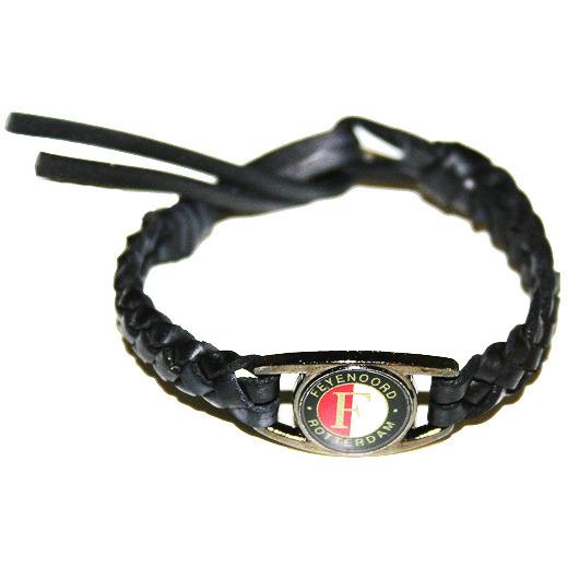 Image of Armbandje Zwart Leder