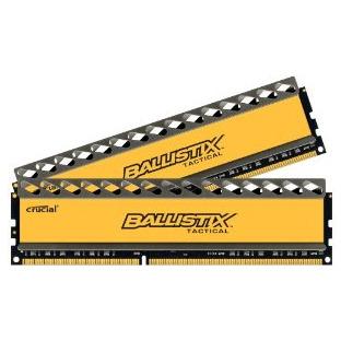 16GB Kit (8GBx2) DDR3 1866 MT/s (PC3-14900) CL9 @1.5V Ballistix Tactical UDIMM 240pin