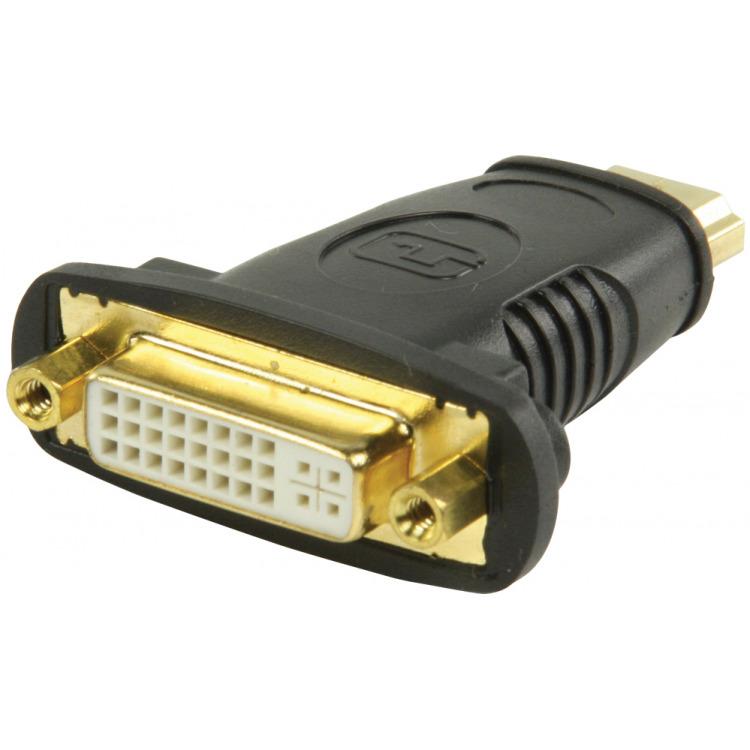 HDMI DVI-adapter HDMI-connector DVI vrouwelijk zwart