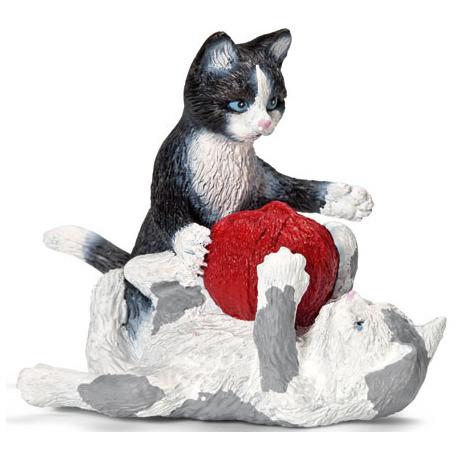 Kitten Spelend Met Bol Wol