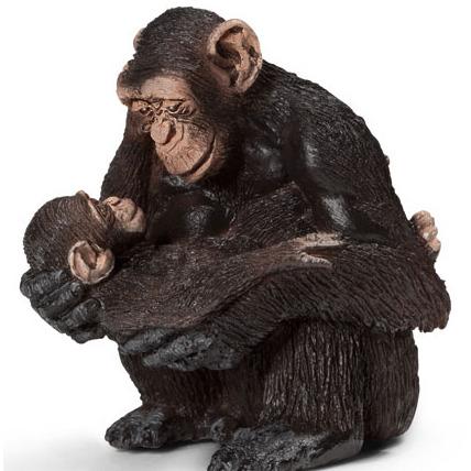 Schleich Vrouwelijke Chimpansee met Baby