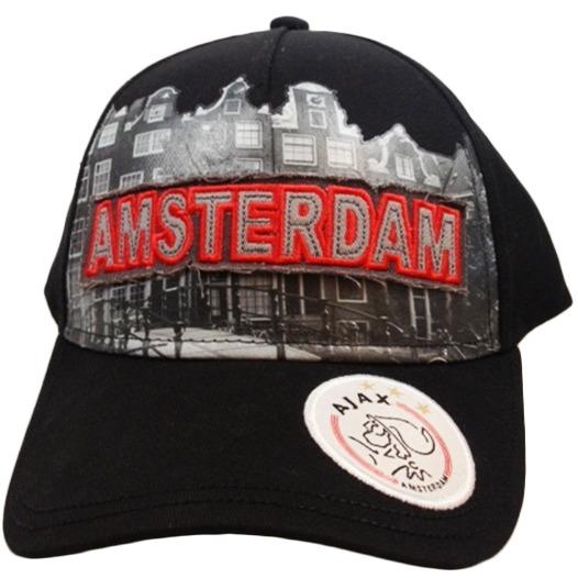 Cap ajax senior zwart skyline Amsterdam - Cap - Zwart