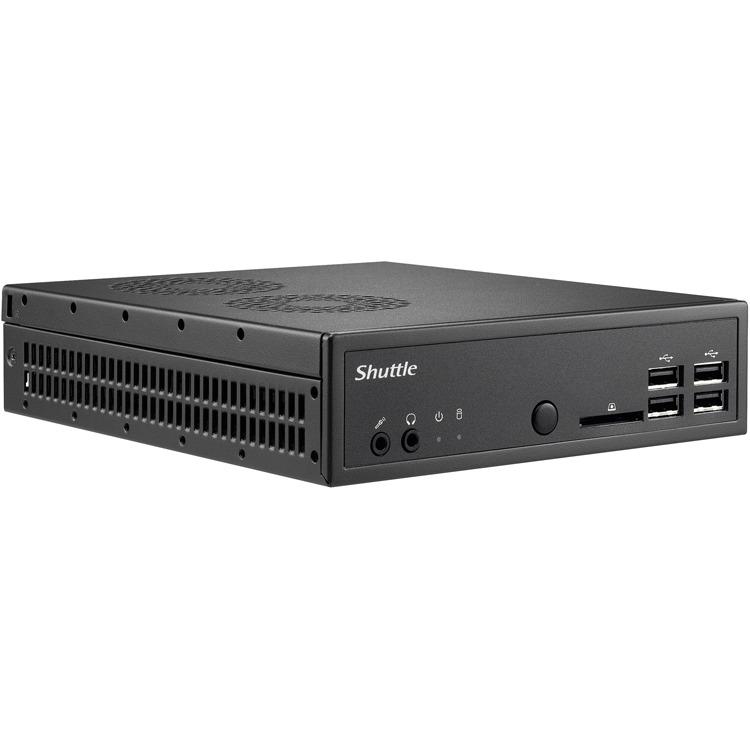 Shuttle Barebone fanless Black: LGA 1150/max 2x8GB SO-DIMM DDR3/ 1XHDMI+2XDP /6xUSB2/2xUSB3 /2.5 bay/ 1.3 litre/ext 90W