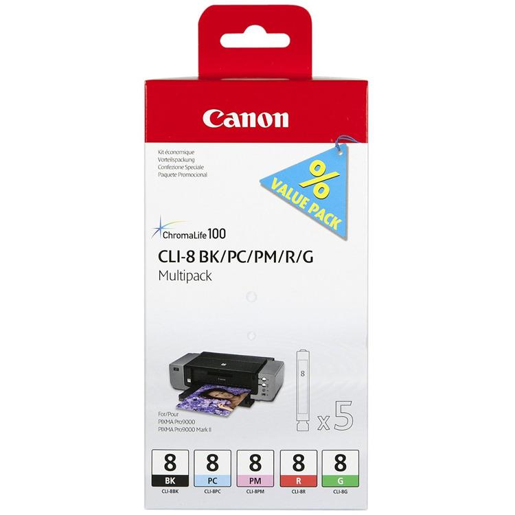Canon CLI-8 Multi-Pack (BK/PC/PM/R/G)