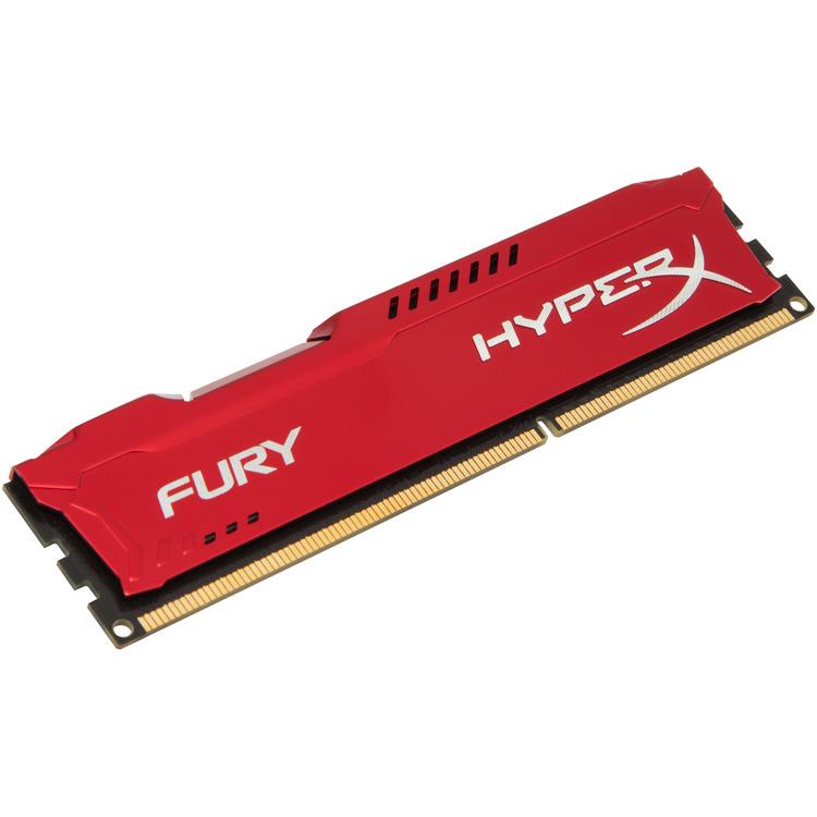 Kingston HyperX Fury 4 GB DIMM DDR3-1866 rood