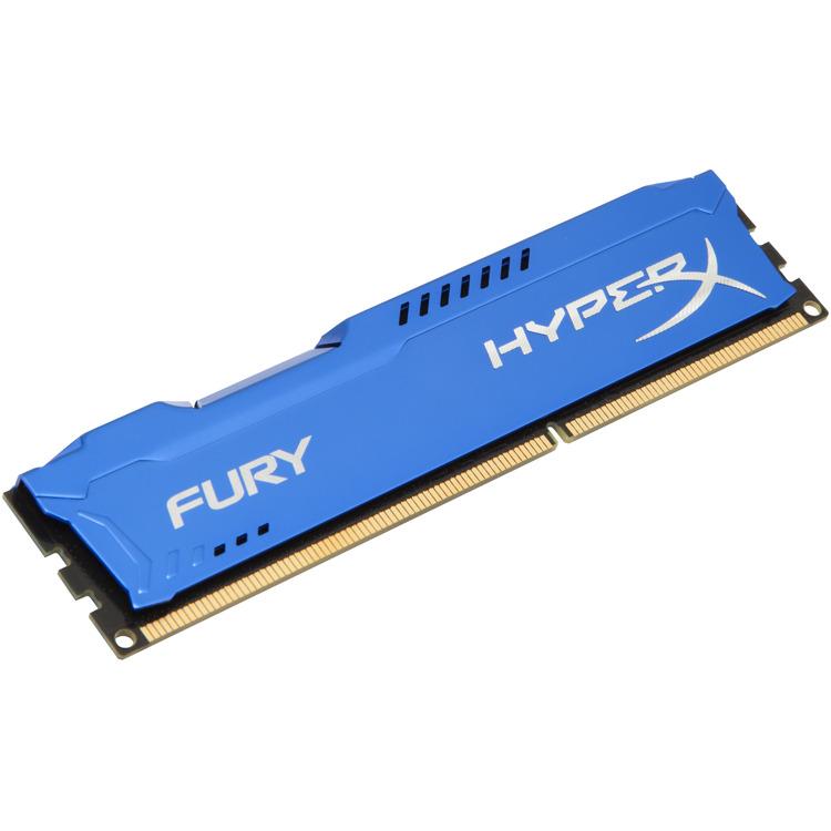 Kingston HyperX FURY 4 GB DIMM DDR3-1866 blauw