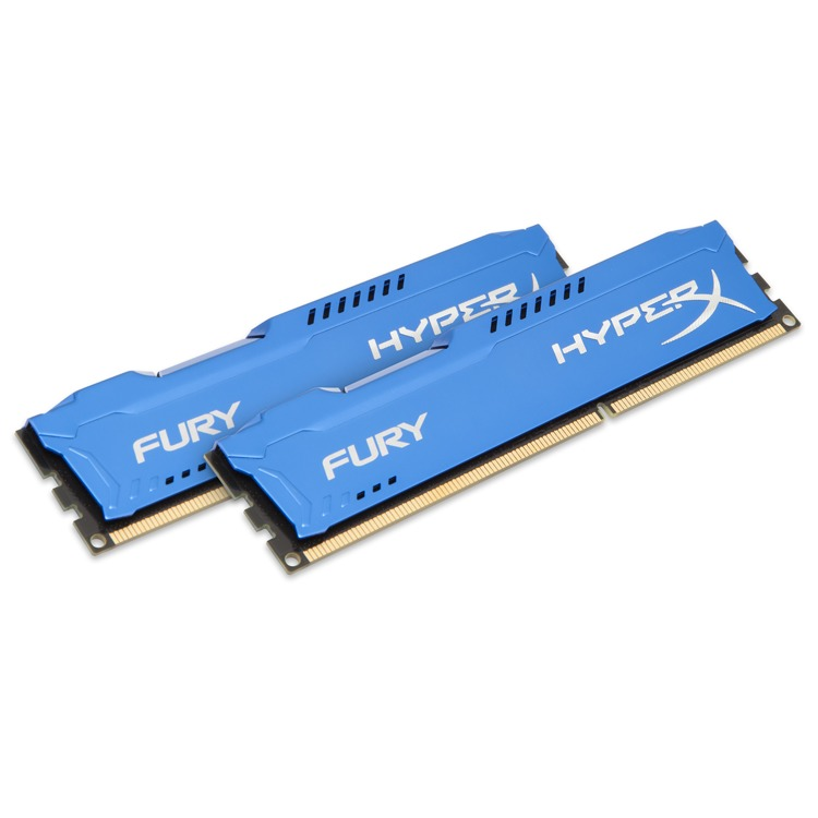 Kingston HyperX FURY 8 GB DIMM DDR3-1333 blauw Kit van 2