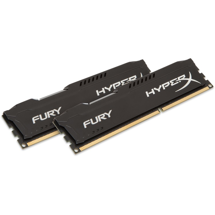 Kingston HyperX FURY 8 GB DIMM DDR3-1866 zwart Kit van 2