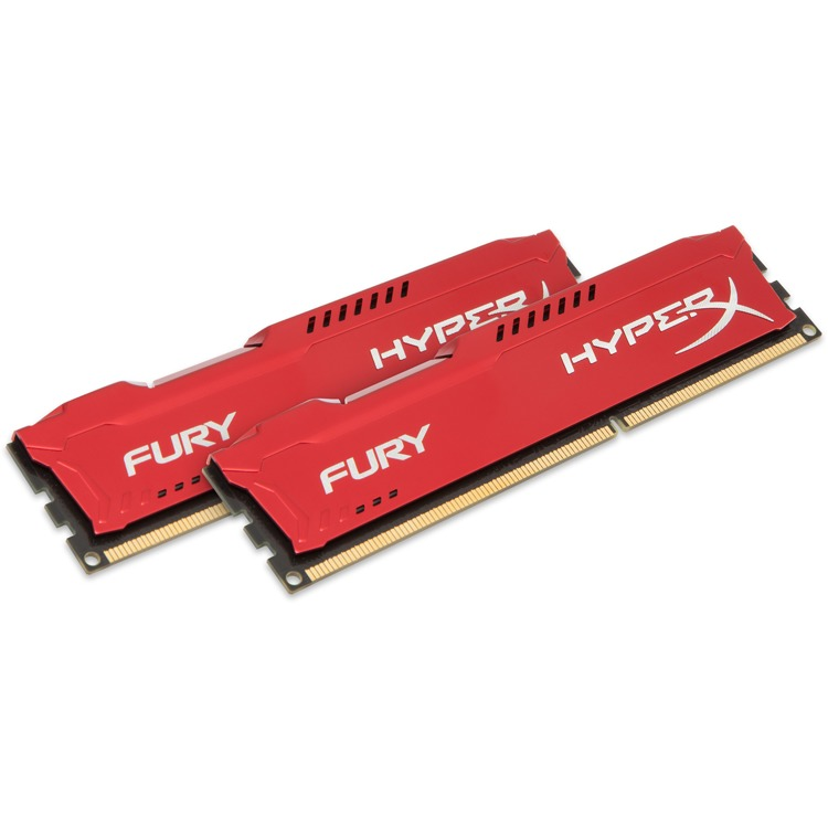 Kingston HyperX FURY 16 GB DIMM DDR3-1866 rood Kit van 2
