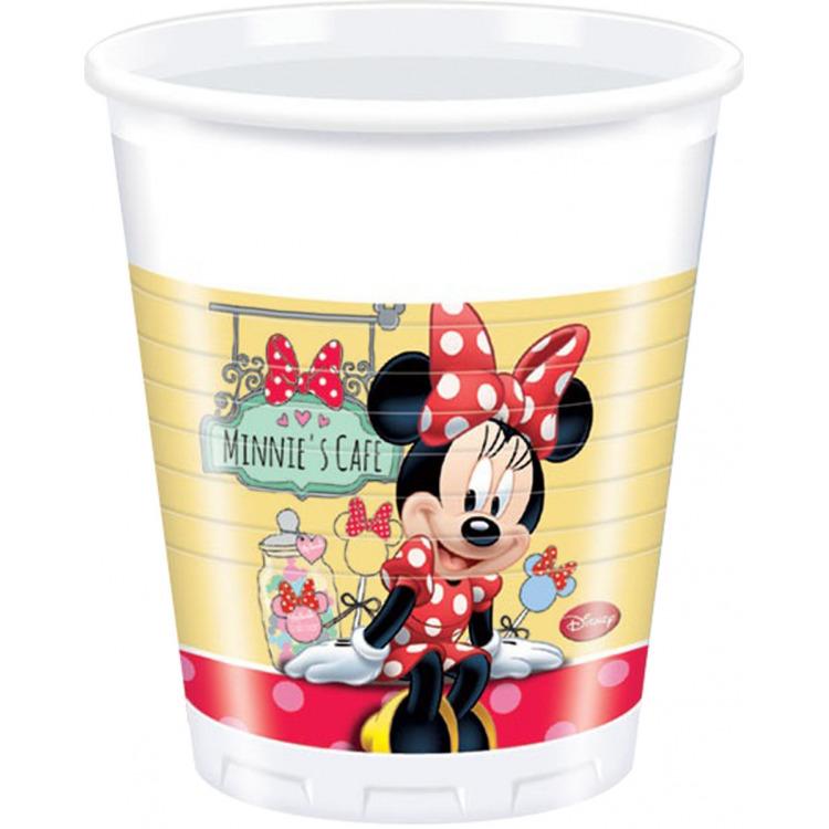 Bekertjes Minnie Mouse 200 ml: 8 stuks -