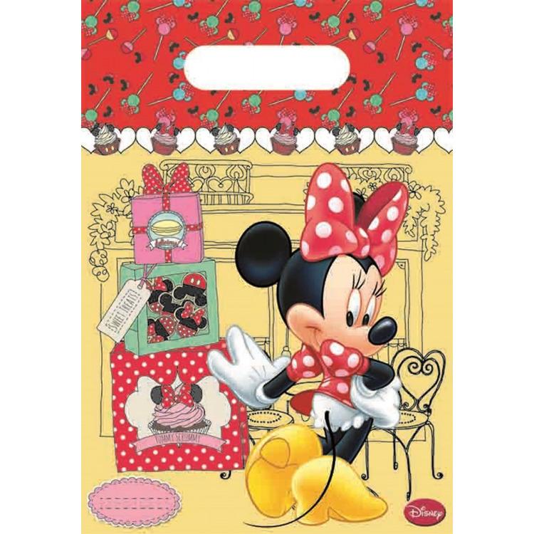 Feestzakjes Minnie Mouse: 6 stuks -