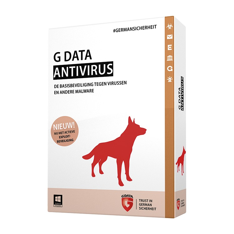 G Data AntiVirus 2015 - 3 Users (Dutch)
