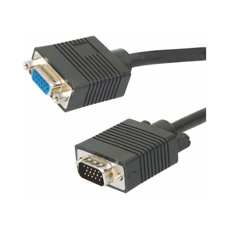 Extension Monitor cable. 20mts.. 15 pins. High Quality. M/F