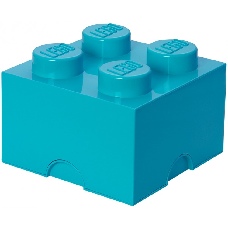 Lego Design Collection Opbergbox - Brick 4 - Azurblauw