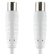 Image of 100 DB Coaxkabel Coax Male (IEC) - Coax Female (IEC) 3.00 M Wit