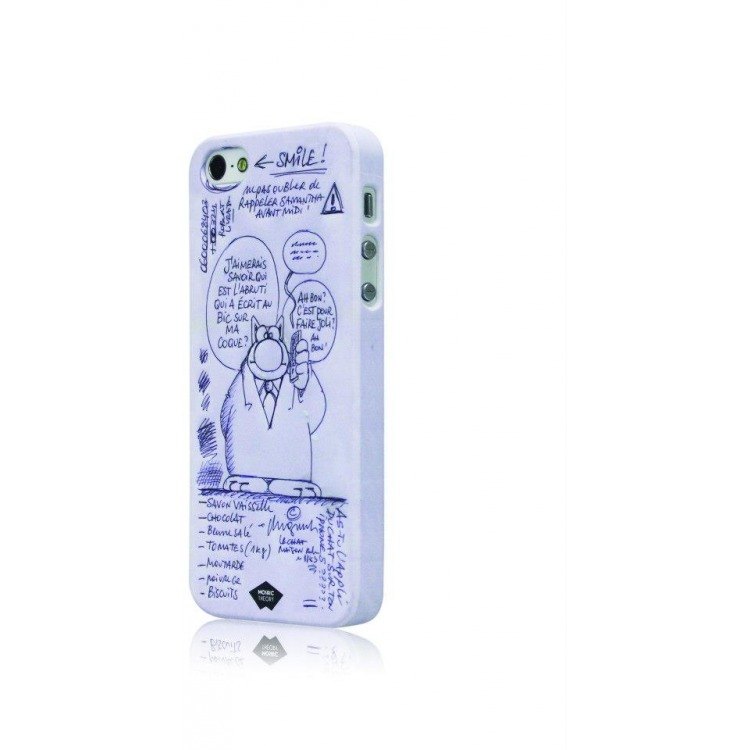 Mosaic Theory Mtld21-001 bic Phone Case Rubberized For Iphone 5s-5 White