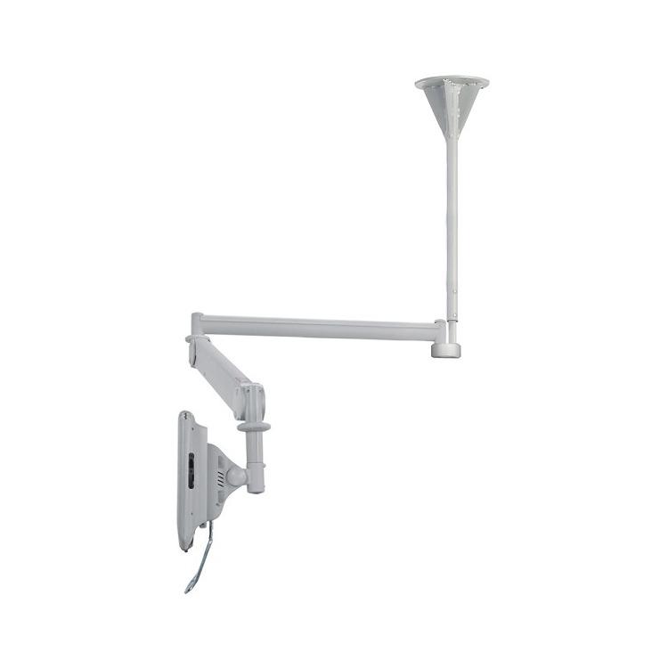 NewStar FPMA-HAC100 - Draaibare plafondsteun - Geschikt voor tv's van 10 t/m 24 inch - Zilver