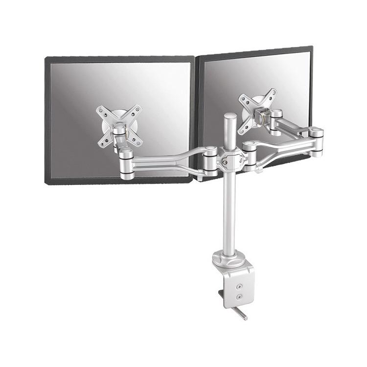 NewStarFPMA-D1030D - Draaibare monitorarm - Geschikt voor 2 schermen van 10 t/m 24 inch - Zilver