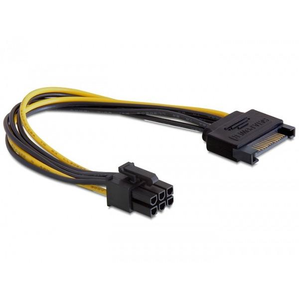 DeLOCK Power SATA 15-pin 6-pin PCI-E (82924)