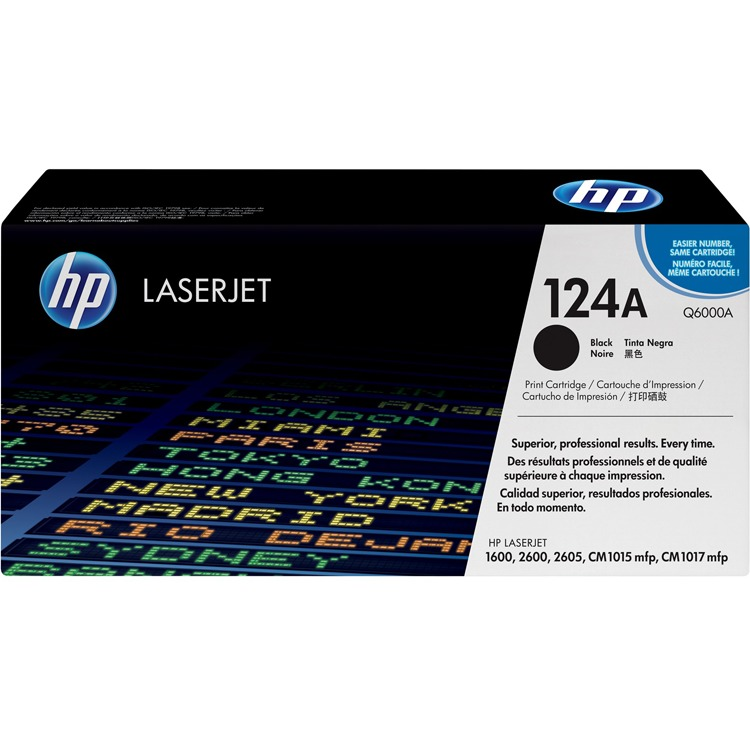 HP 124A Tonercartridge Q6000A Zwart